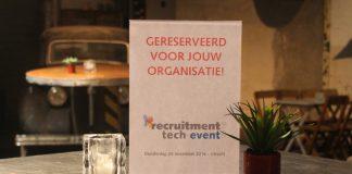 Company Ticket: met jouw team naar het Recruitment Tech Event 2016