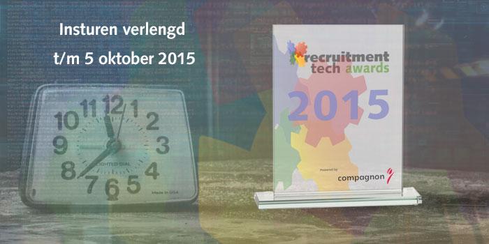 Deadline inzenden Recruitment Tech Awards 5 oktober 2015