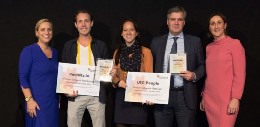 Recruitment Tech Awards 2016 voor USG People en Recruitz.io