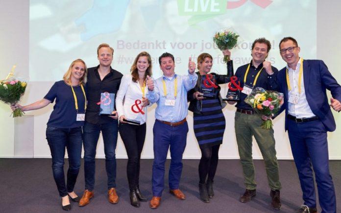 Winnaars Werf Awards 2016 op het podium bij Wer Live