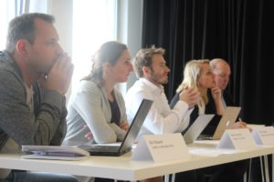 De vakjury met van links naar rechts: Eric Houwen, Marieke van Heek, Patrick Boonstra, Lianne Toebes en Ron Jansen