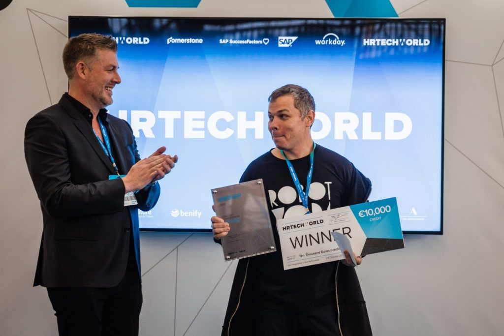 Robot Vera wint Startup Awards HR Tech World Congress Amsterdam 2017