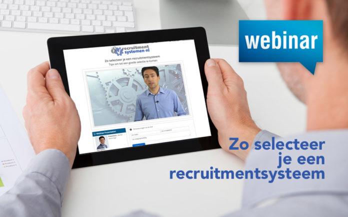 Webinar: 10 tips om succesvol een recruitmentsysteem te kiezen