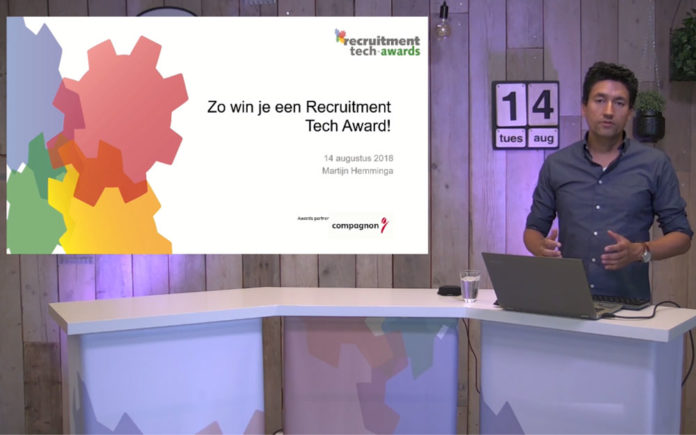 Replay webinar Zo win je een Recruitment Tech Award