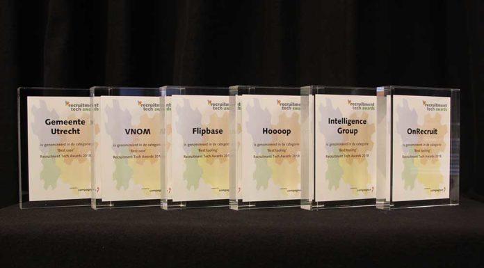 4 tools en 2 cases genomineerd voor de Recruitment Tech Awards 2018