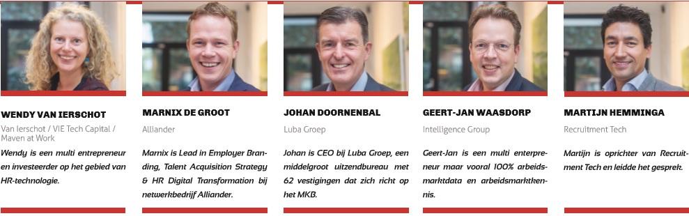 """Wendy van Ierschot, Marnix de Groot, Johan Doornenbal, Geert-Jan Waasdorp, Martijn Hemminga - De huidige stand van recruitmenttechnologie: """"Ziet door de bomen het bos niet meer"""""""