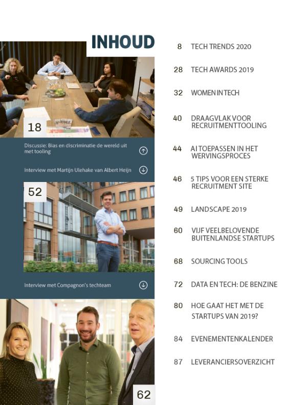 Inhoudsopgave Recruitment Tech Guide 2020