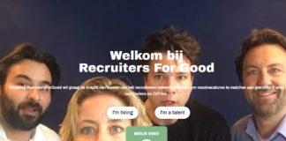RecruitersForGood richt platform op om kandidaten en organisaties gratis te helpen tijdens coronacrisis
